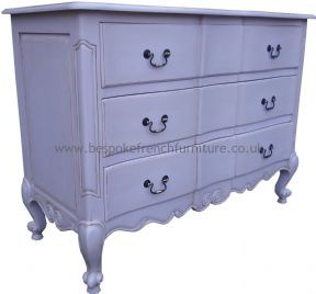 Sandrine 3 Drawer French Chest in your choice of colour